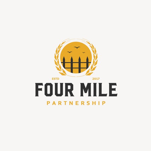 Logo concept for four mile partnership