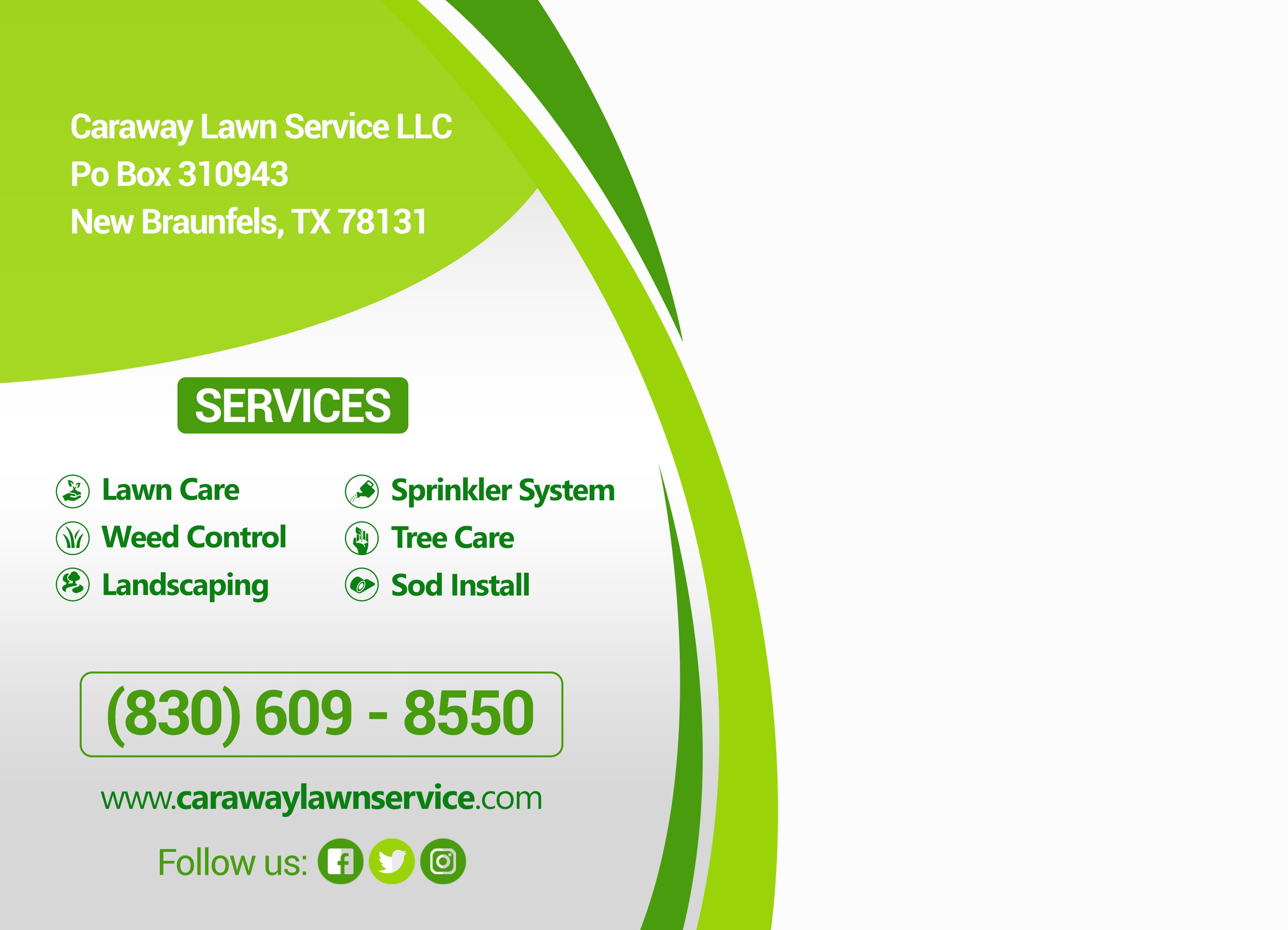 Lawn Service Postcard mailers
