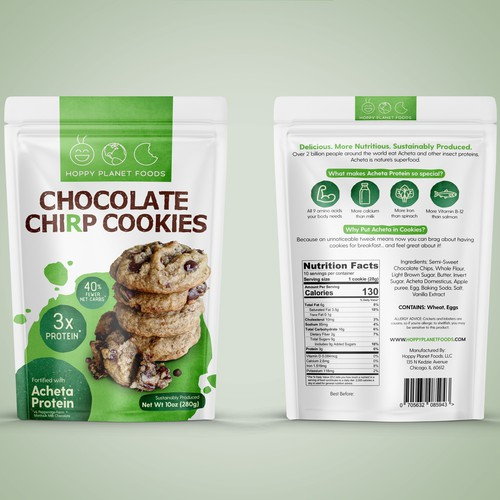Chocolate Chirp Cookies packaging design
