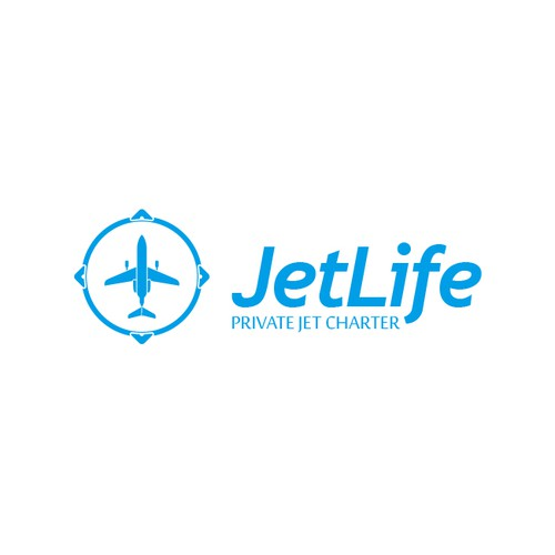 Create the next logo and business card for JetLife