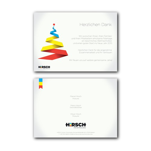 Business Christmas card