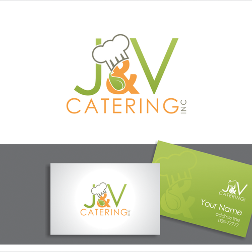 logo for J and V Catering, Inc.