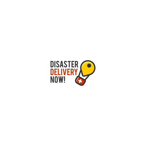 Disaster Logistics Delivery Logo