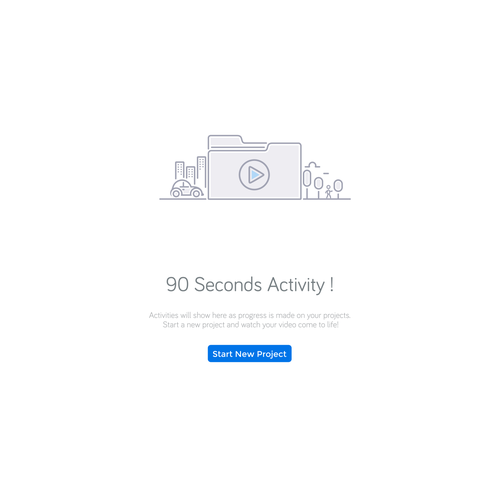 Thin line icon design for 90 seconds activity