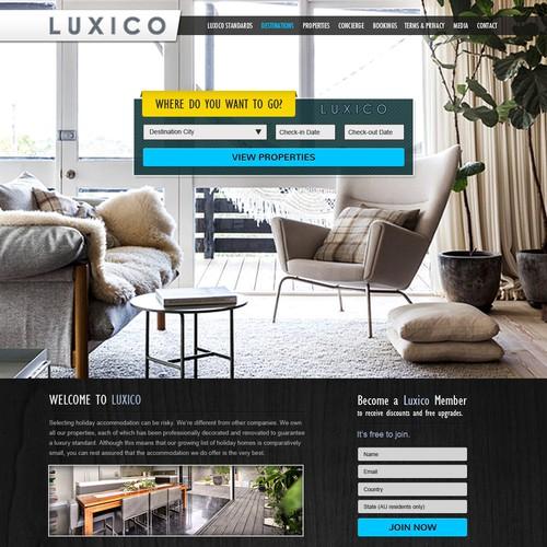 Luxico needs a new website design