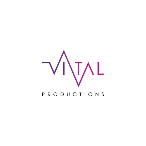 Logo entry for Vital Production logo contest.