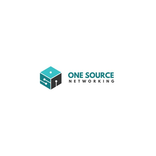 """My logo concept for """"One Source Networking"""""""