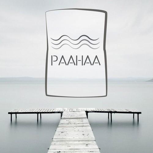 Totem pole & sticks-inspired logo for lake home