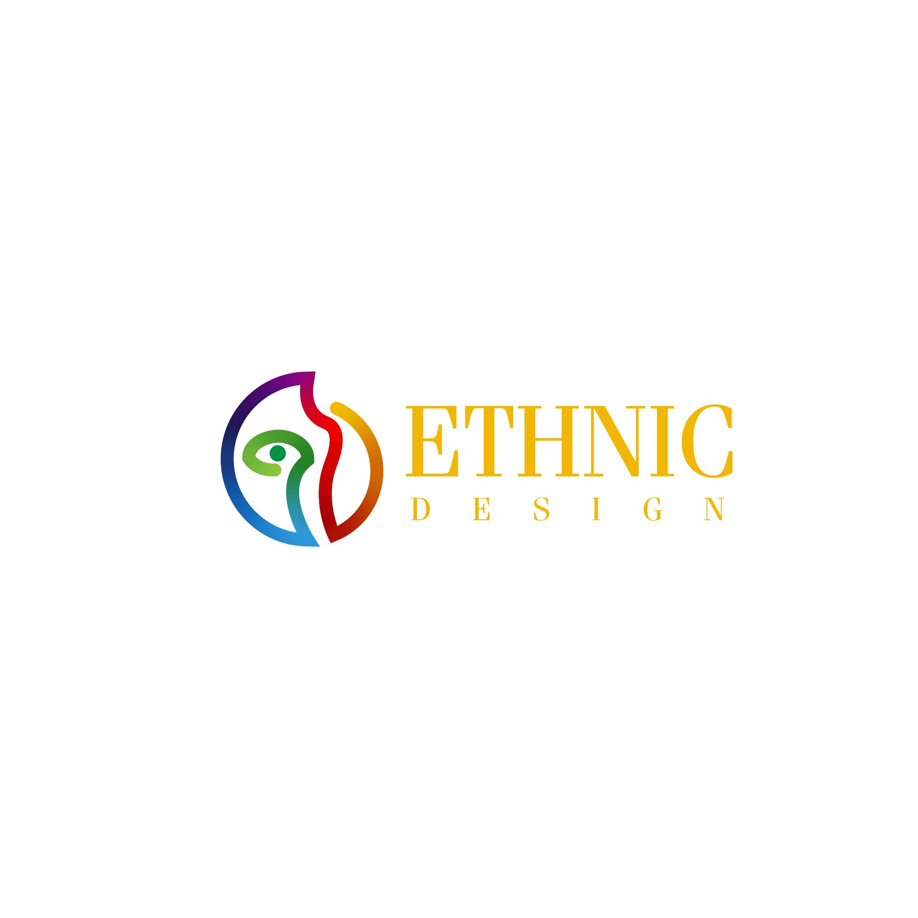 Design a simple Logo, modern, chic, elegant with a wink on ecologic and African art;