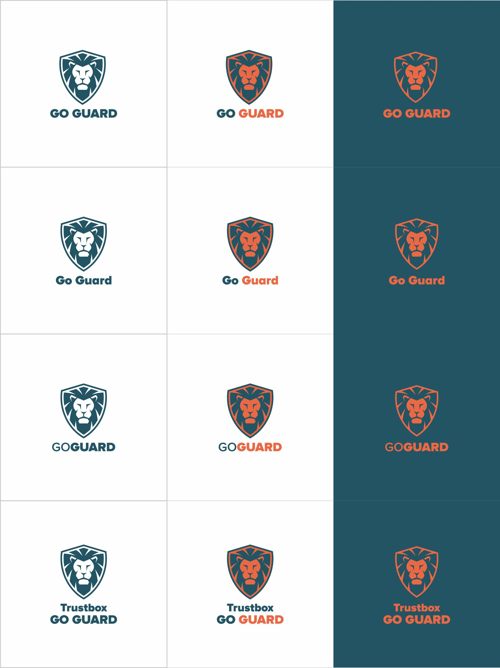 Lion design for Go Guard