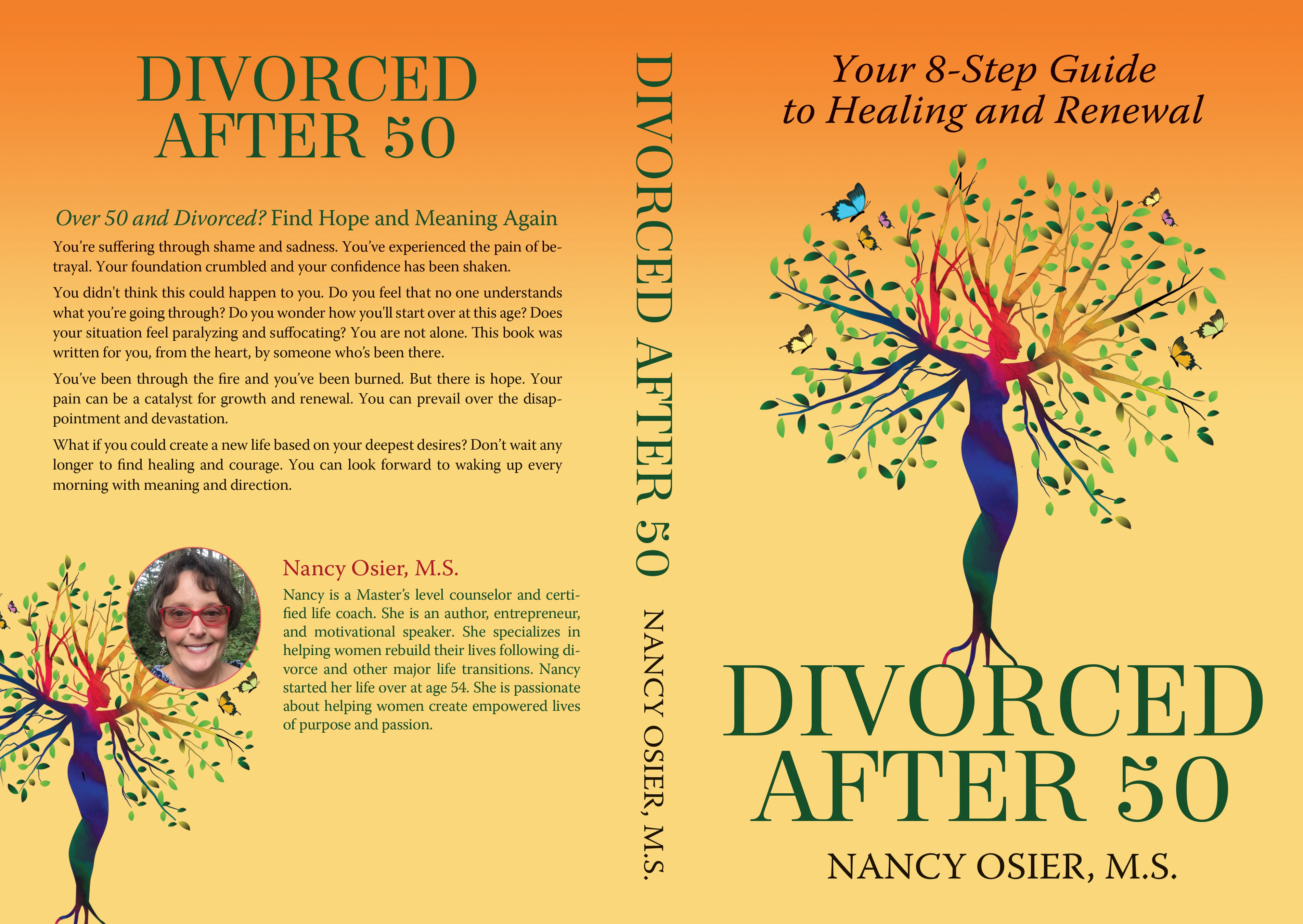 Design an eye-catching book cover to help divorced women start over
