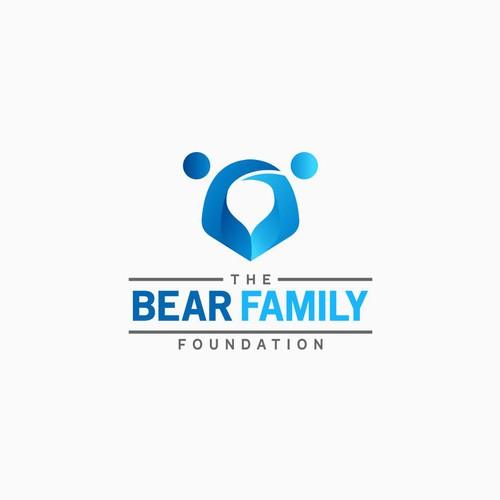 Logo concept for bear family foundation