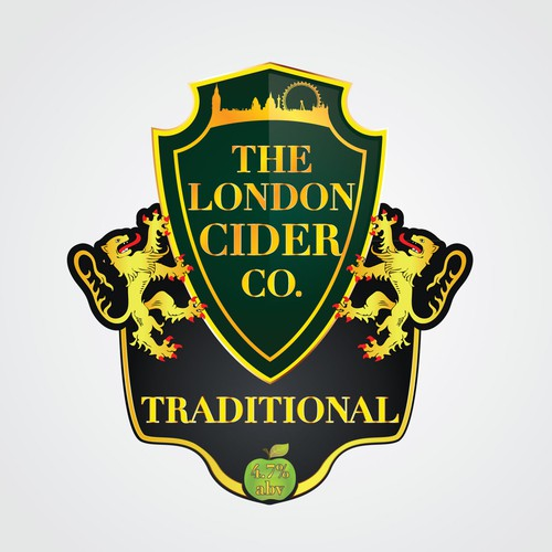 product label for The London Cider Company