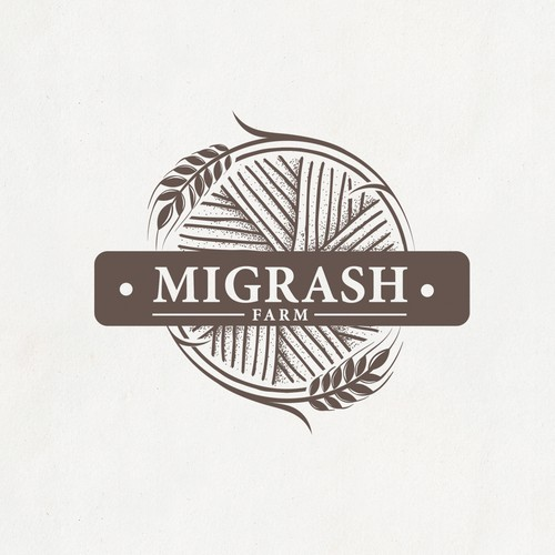 "Logo for stunning agriculture - ""Migrash Farm""."