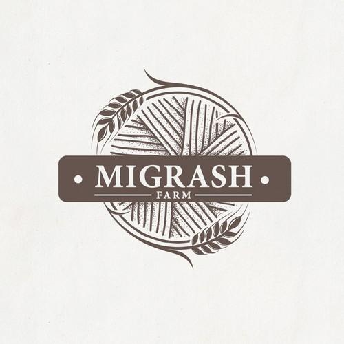 "Logo for stunning agriculture - ""Migrash Farm""."