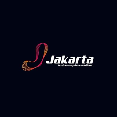 Stylized logo for Jakarta