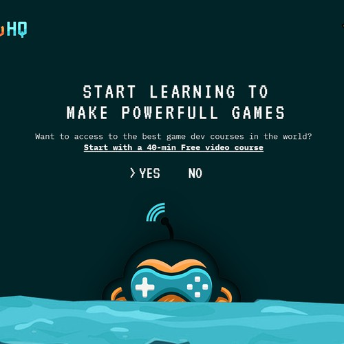 Game dev courses header design