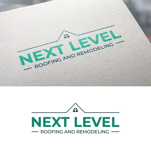 Logo for a roofing and remodeling company
