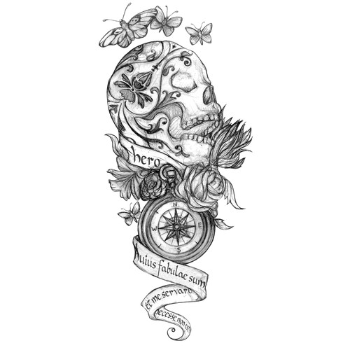 Hip - Dark - Sketch Tattoo Design Needed!