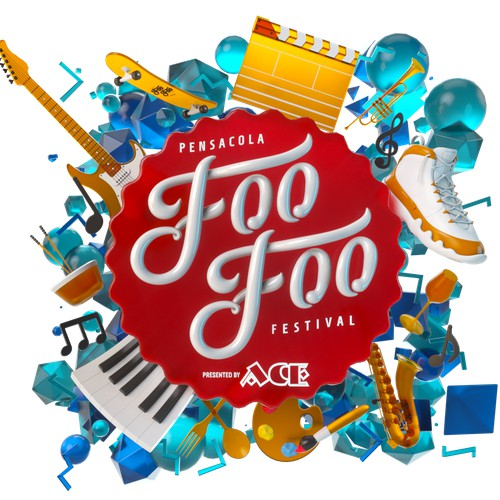 Animation for the FooFooFest Pensacola Florida 2019