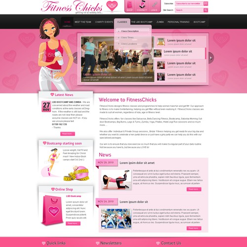 FitnessChicks (website for wobbly women!!)