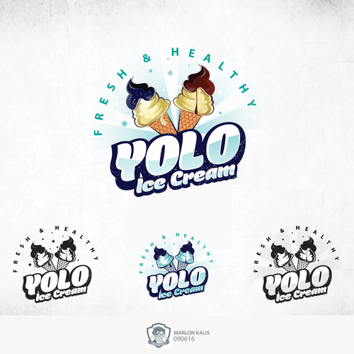 Bold Logo For Ice Cream Shop
