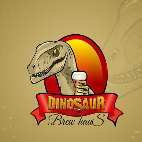 Dinosaur Mascot for restaurant logo