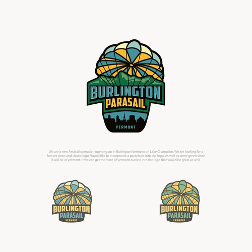 Logo for Parasail Operation opening up in Burlington Vermont on Lake Champlain