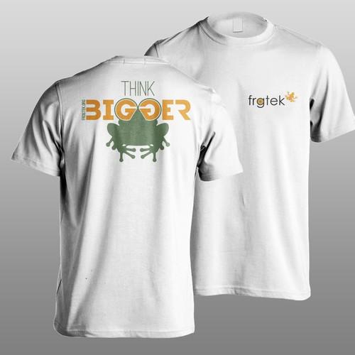 t shirt design for frogtek
