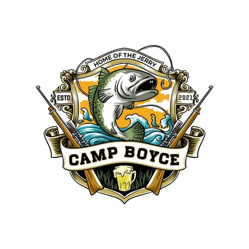 camp boyce logo concept