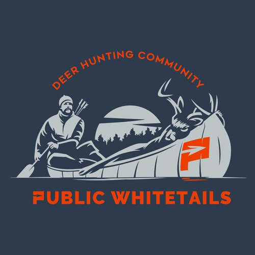 "Unique and Simple Logo for ""Public Whitetails"""