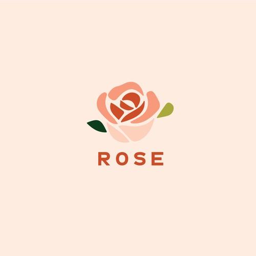 玫瑰的品牌标识概念