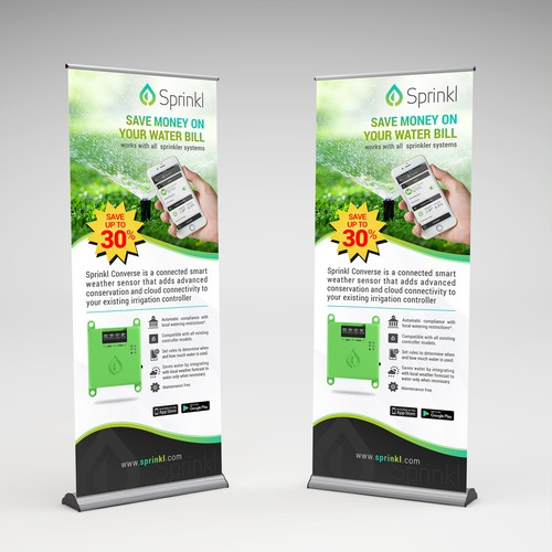 Expandable banner design for IoT company