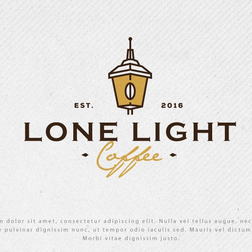 Logo for Lone Light Coffee
