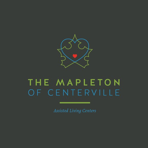 A clean, minimalist and heart centred logo for The Mapleton Assisted Living