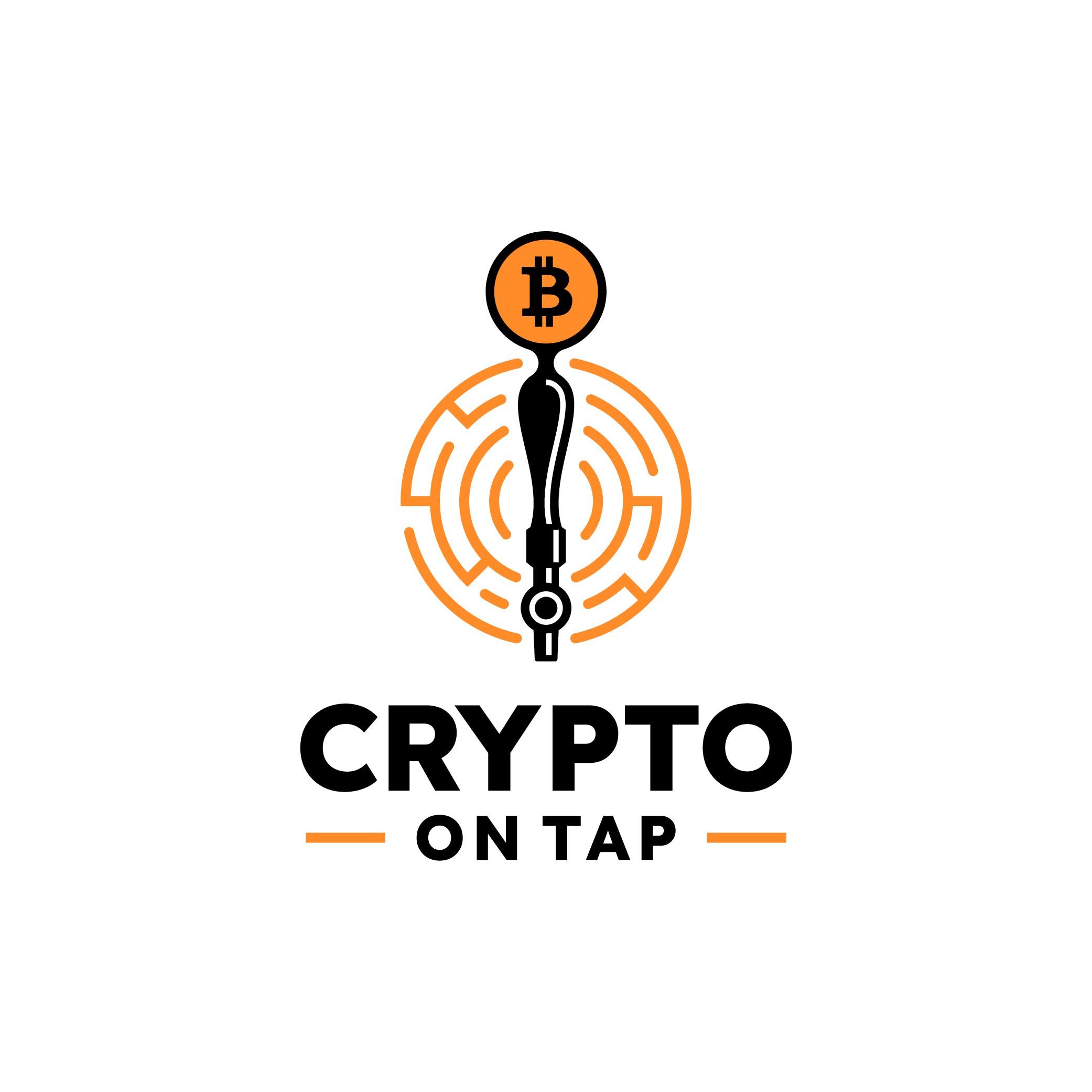 Crypto On Tap - Merge the futuristic crypto vibe with a warm inviting pub logo