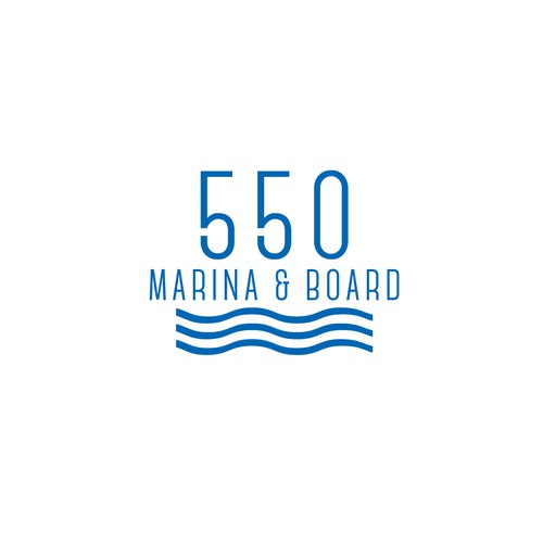 Logo design for paddle board and marina