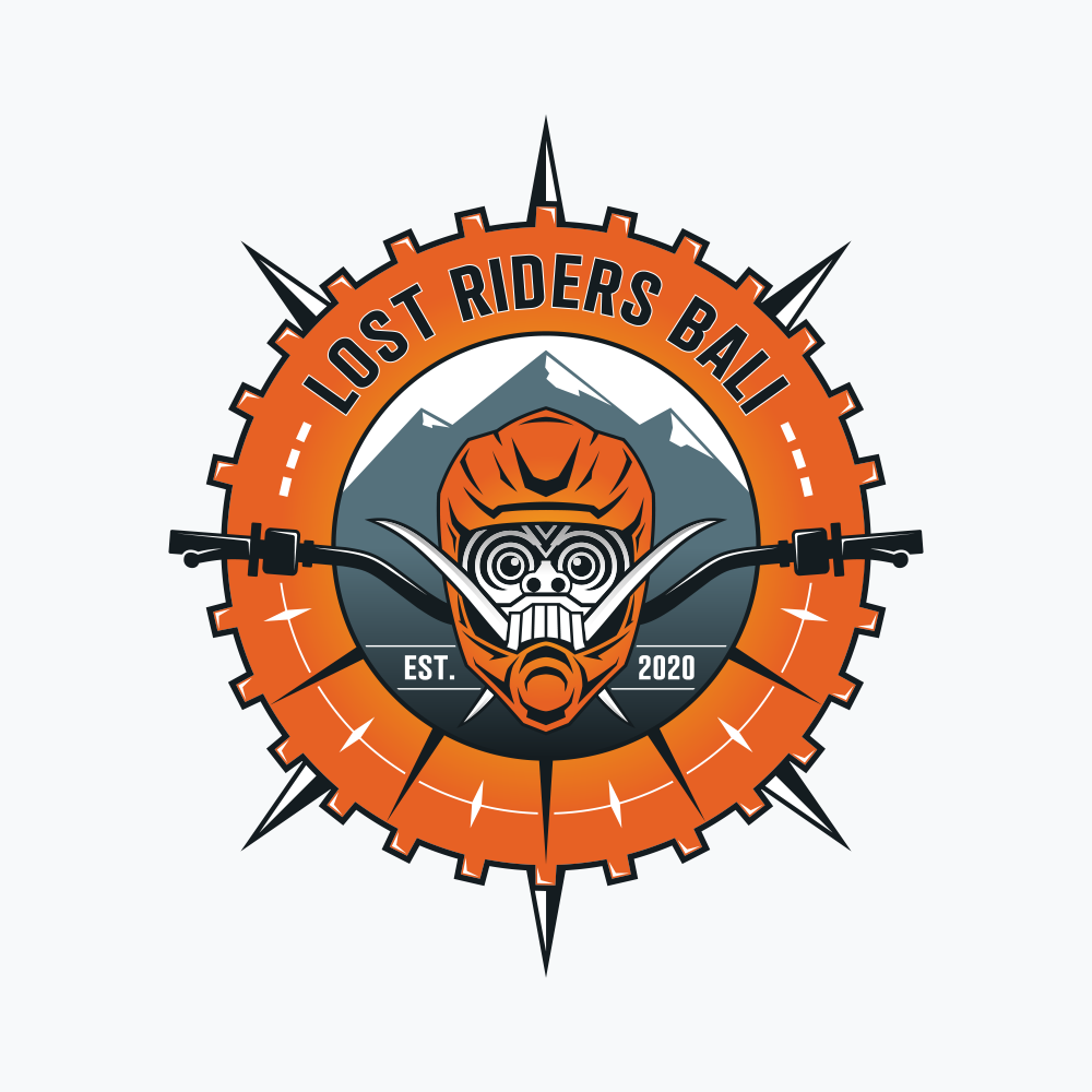 Unique Logo for Trail Riding Motorcycle Club and Tour Business in Bali, Indonesia