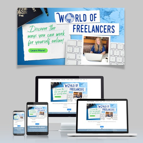 Banner header for World of Freelancers website