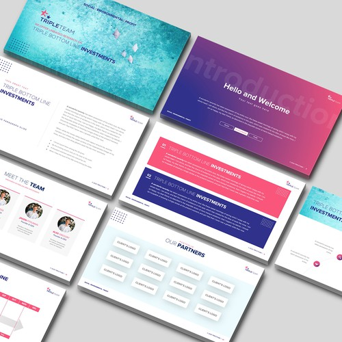 Investment Firm Pitch Deck Design