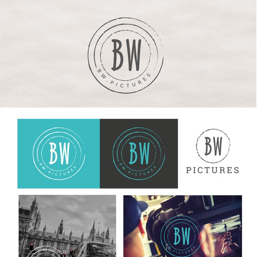 BW pictures logo design