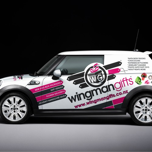 2003 Mini Cooper Wrapping Design for Wingman Gifts