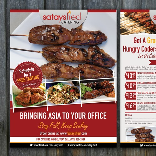 Create a flyer for an Asian Fusion Catering company