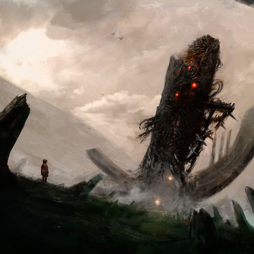 Scifi horror cover art