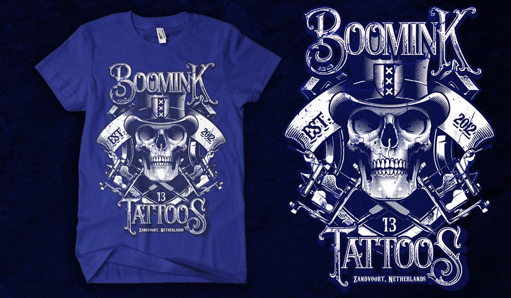 Design a T-shirt for a Tattoo Shop
