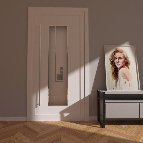 Designs for glass cut-outs from entry doors