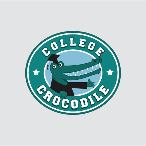 College Crocodile Logo