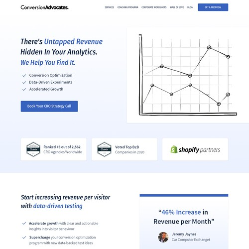 Landing Page for ConversionAdvocates