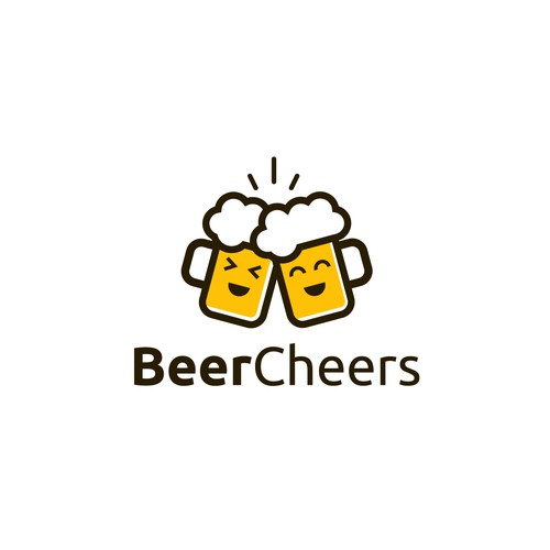 Modern fun logo for BeerCheers