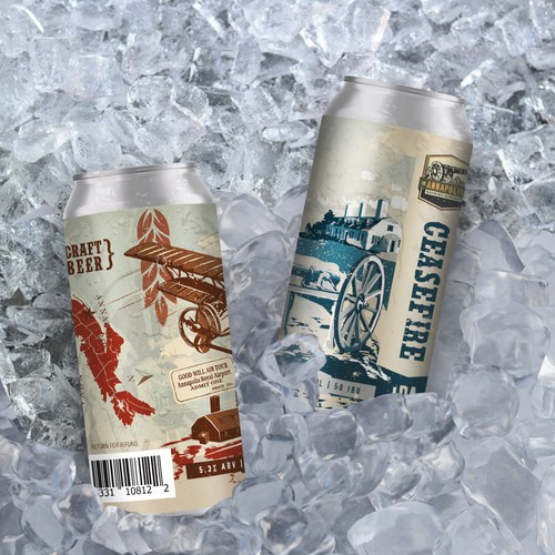 473 ml Beer Cans made for Annapolis Brewing Company